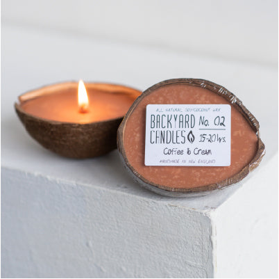 Medium Coconut Shell Candle