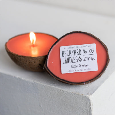 Large Coconut Shell Candle