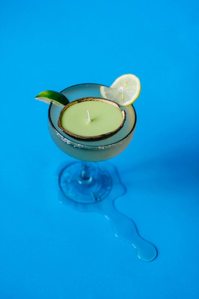 floating margarita scented candle