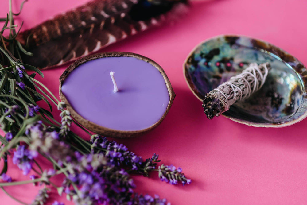 smudging with white sage