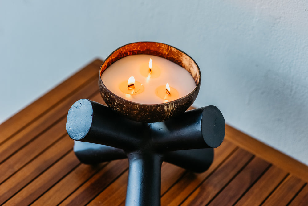 The Coconut Bowl Candle by Backyard Candles