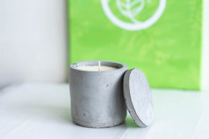 essential oil cement candle