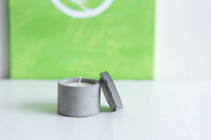 cement candle made with essential oils