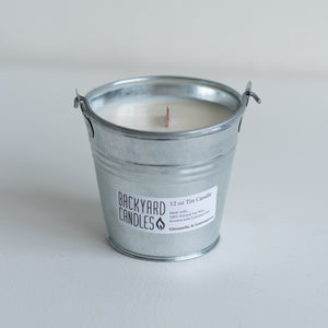 outdoor pail candle