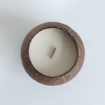 wood wick coconut cup candle