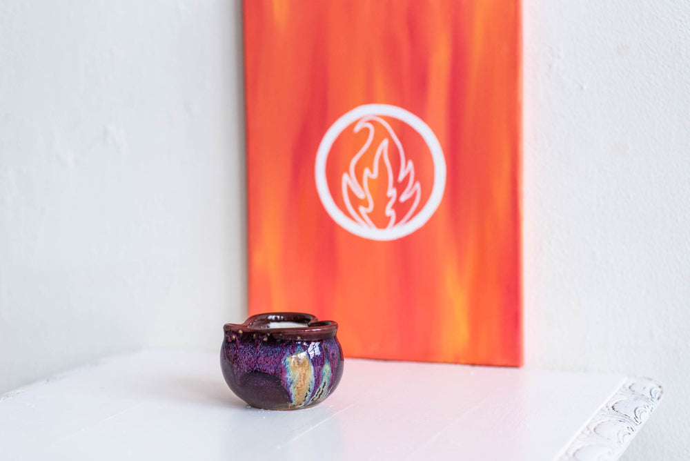 fire collection ceramic heart candle