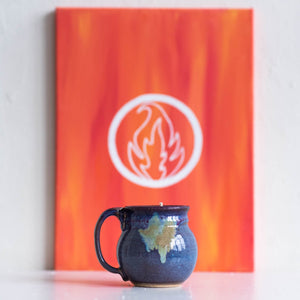 fire collection ceramic mug candle