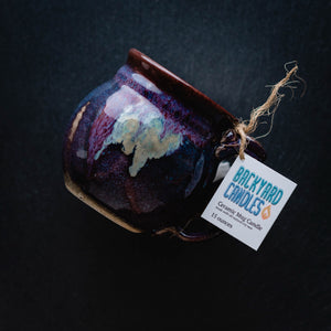 Load image into Gallery viewer, ceramic mug candle by backyard candles