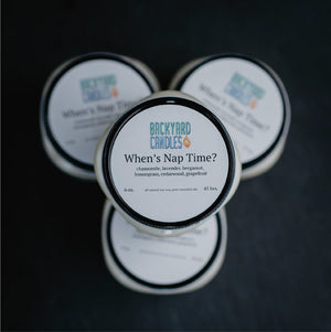 whens nap time essential oil candle