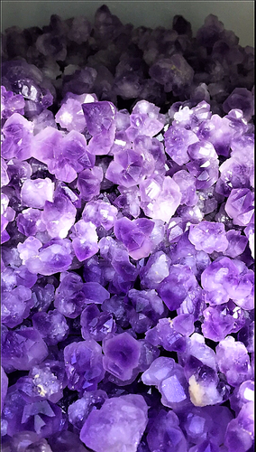 Natural Purple Amethyst Crystal Flower