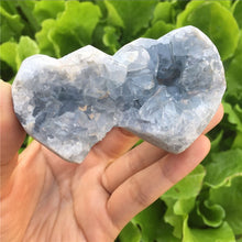 Rare! Celestite 100% Natural Blue Crystal Geodehealing Gemstone Meditation