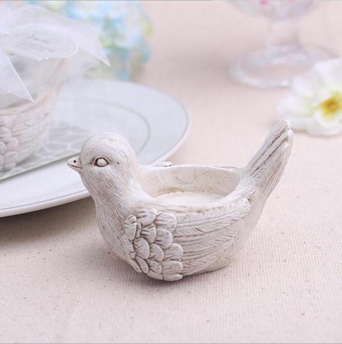 Love Dove Tealight Candle Holder Garden Wedding Favour