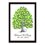 Infinity of Four Seasons Tree Personalised Wedding Guest Book Alternative - Sage Green Summer - AUSTRALIAN FAVORS