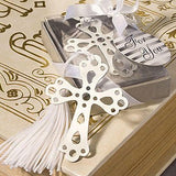 Holy Cross Silver Bookmark Christening Baptism Favour