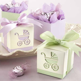 Baby's Day Out Baby Carriage Pram Baby Shower Favour Box in Purple (10 Pcs)
