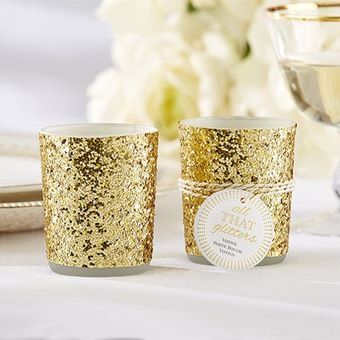 All That Glitters Gold Tealight Candle Holder Wedding Favours