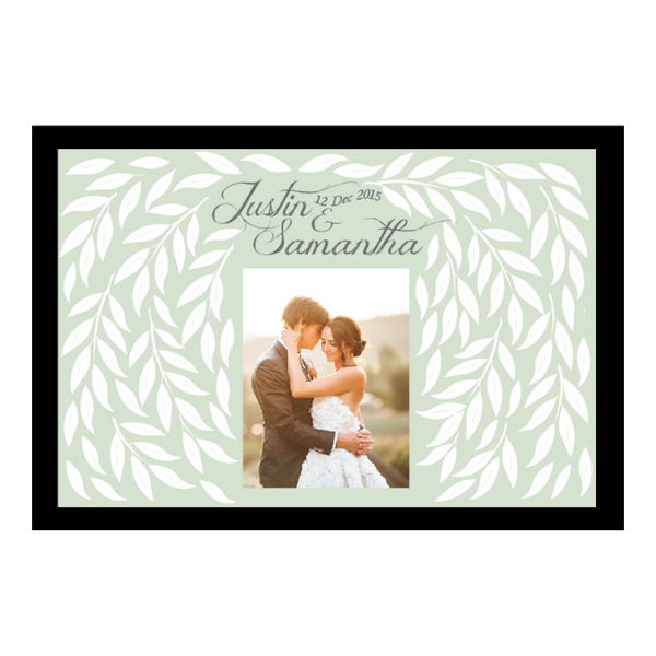 Allure Series Personalised Wedding Guest Book Alternative Poster - Mint Green - AUSTRALIAN FAVORS