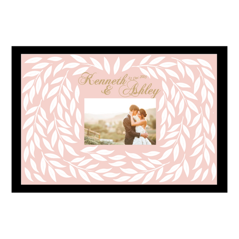 Allure Series Personalised Wedding Guest Book - Blush Pink