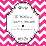 Chevron Personalised Wedding Thank You Bomboniere Tag & Sticker - AUSTRALIAN FAVORS