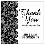 Elegant Black Laces Customized Wedding Bridal Shower Thank You Bomboniere Tag & Sticker - AUSTRALIAN FAVORS
