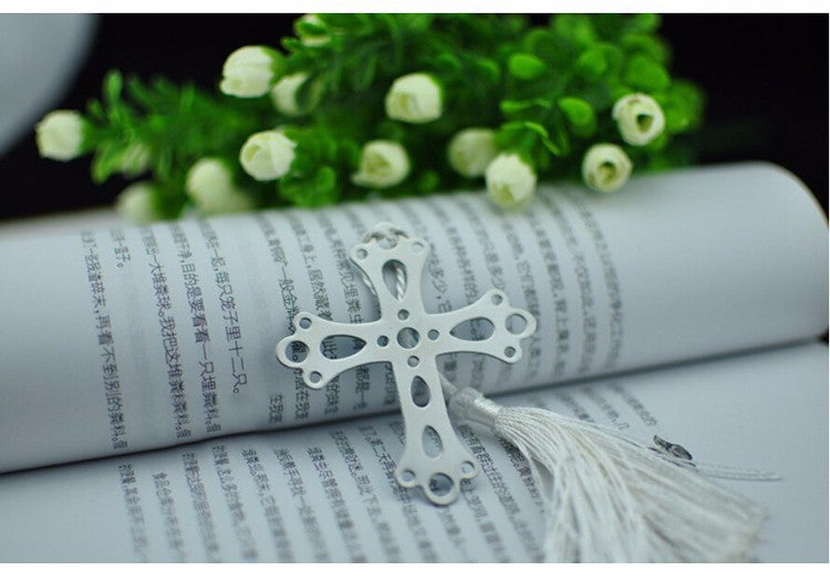 Holy Cross Silver Bookmark Christening Baptism Favour - AUSTRALIAN FAVORS