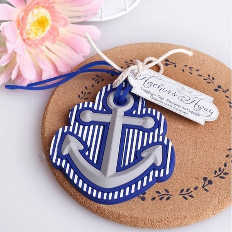 Anchors Away Luggage Tag Nautical Beach Blue Wedding Favours - AUSTRALIAN FAVORS