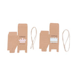 Little Prince Kraft Boy Baby Shower Christening Favour Boxes (10 Pcs) - AUSTRALIAN FAVORS