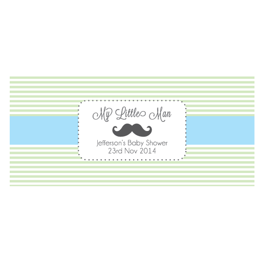 My Little Man Boy Baby Shower Personalised Napkin Band - AUSTRALIAN FAVORS