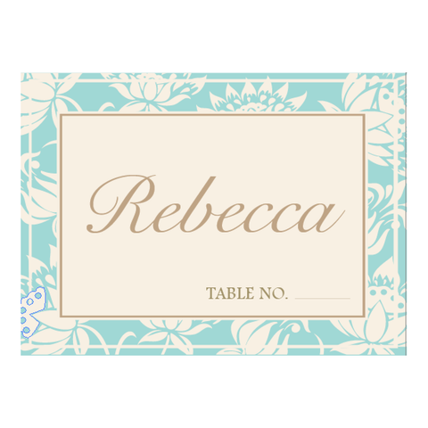 Olivia Classic Floral Wedding Table Place Card - AUSTRALIAN FAVORS