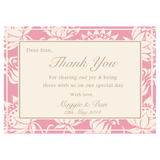 Olivia Classic Floral Wedding Thank You Card