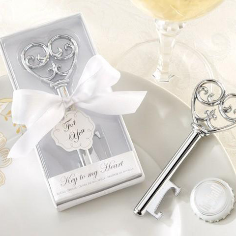 Simply Elegant Key To My Heart Bottle Opener Wedding Favour
