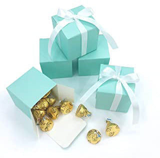 Tiffany Blue Mint Wedding Favour Bomboniere Cube Boxes (Packs of 10) - AUSTRALIAN FAVORS