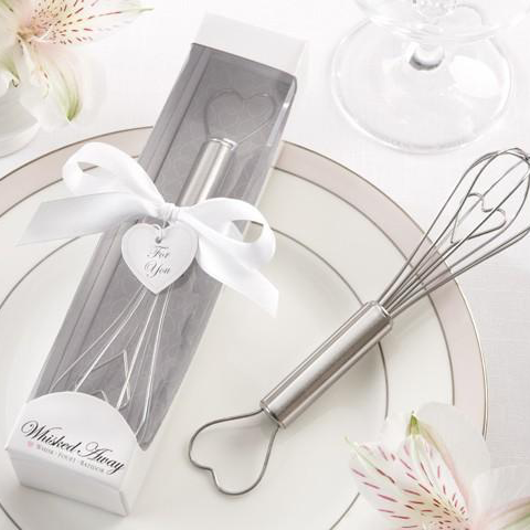 Whisked Away Mini Whisk in Elegant White Gift Box Wedding Favours