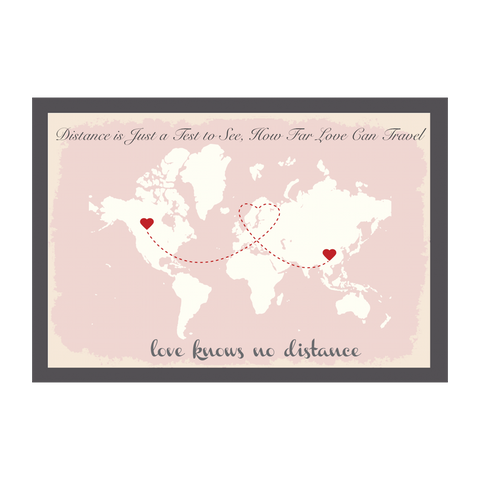 World Map Wedding Guest Book Alternative - Pink
