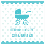 Baby Pram Baby Shower Personalised Thank You Favour Tag & Sticker - AUSTRALIAN FAVORS