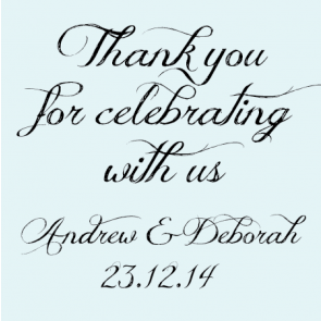 Billboard Design Personalised Wedding Bomboniere Thank You Tag & Sticker - AUSTRALIAN FAVORS