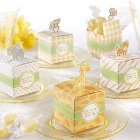 Animal Jungle Safari Baby Shower Favour Boxes (Set of 4) - AUSTRALIAN FAVORS