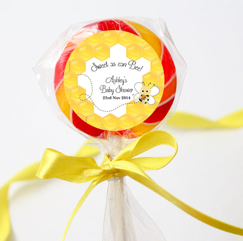 Honey Bumble Bee Baby Shower Customized Round Thank You Favour Sticker - AUSTRALIAN FAVORS