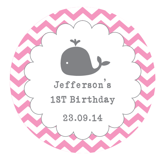 Personalised Teddy Baby Shower Gender Girl Party Stickers Sweet Bags Seals 1024