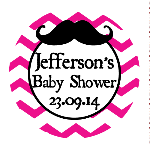 Chevron & Moustache Boy Baby Shower Party Favour My Little Man Personalized Thank You Sticker - AUSTRALIAN FAVORS