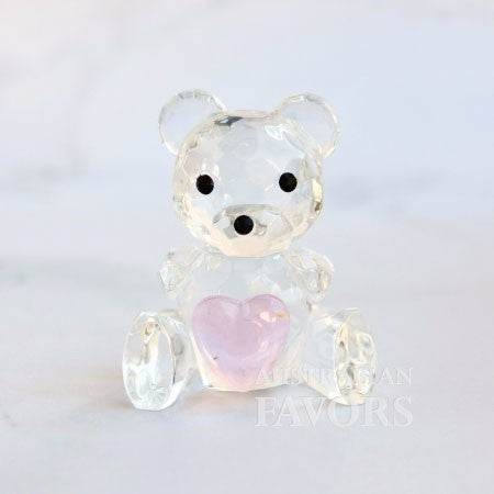 Crystal Teddy Bear Pink Girl Baby Shower Baptism Christening Favours - AUSTRALIAN FAVORS
