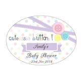 Cute As A Button Baby Shower Personalised Envelope Seal Baby Shower Supplies