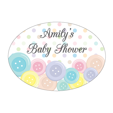 Cute As A Button Personalised Envelope Seal Baby Shower Stationery - AUSTRALIAN FAVORS
