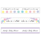 Cute as a Button Baby Shower Customized Straw Flags - AUSTRALIAN FAVORS