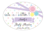 Cute As A Button Baby Shower Personalised Envelope Seal Baby Shower Supplies - AUSTRALIAN FAVORS
