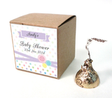 Cute As A Button Baby Shower Personalised Square Favour Thank You Gift Tag & Sticker - AUSTRALIAN FAVORS
