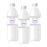 Cute as a Button Baby Shower Personalised Water Bottle Labels - AUSTRALIAN FAVORS