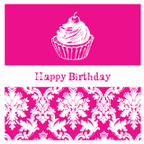 Damask Birthday Party Personalised Favour Gift Tag & Sticker Label - AUSTRALIAN FAVORS
