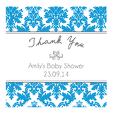 Damask Baby Shower Baptism Personalised Thank You Favour Gift Tag & Sticker Label - AUSTRALIAN FAVORS