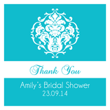 Damask Bridal Shower Personalised Favour Thank You Tag & Sticker - AUSTRALIAN FAVORS